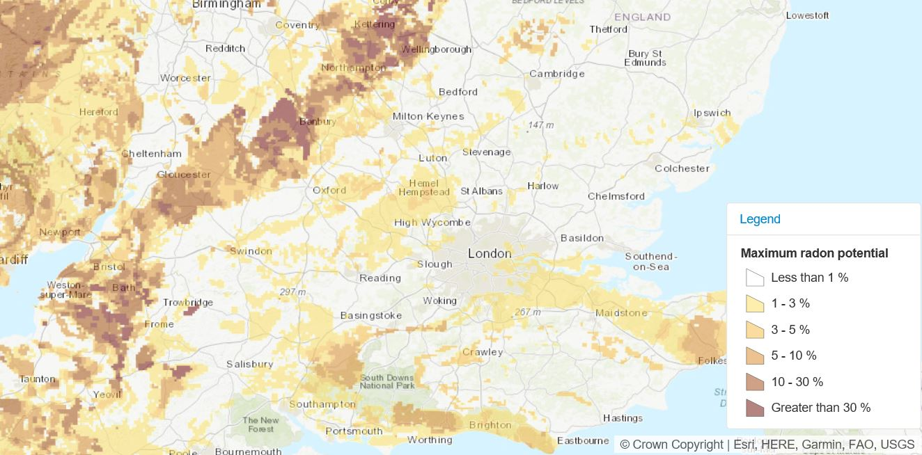 Image of the UK radon atlas.