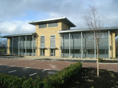 Image of a modern office building.
