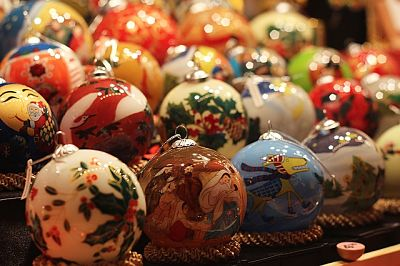 Image of Christmas baubles.